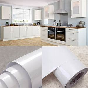 White vinyl kitchen cupboard door cover self adhesive for Kitchen colors with white cabinets with custom sticker rolls