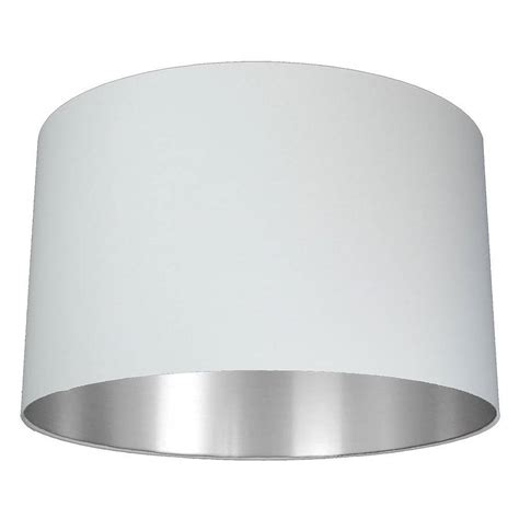 Drum Lamp Shade White by Brushed Silver Lined Lamp Shade Choice Of Colours By Quirk