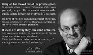 Salman Rushdie on respecting religious beliefs.. by ...