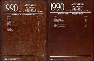 1990 Ford Service Specs Book Ranger Bronco Ii Aerostar
