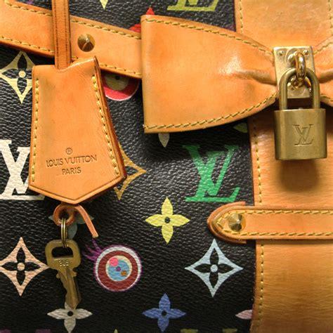 louis vuitton eye love  black multi color takashi murakami handbag purse