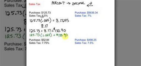 Math Worksheets Calculating Sales Tax  Calculating Sales