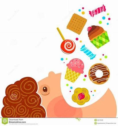 Sweets Eating Cartoon Lots Boy Cartoons