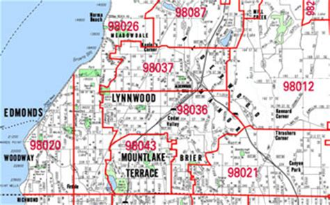 Snohomish County Zip Code Map – AGCReWall