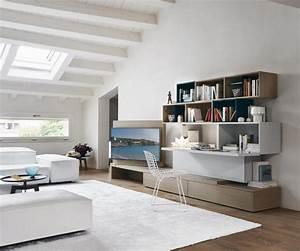 Schrankwand Mit Integriertem Schreibtisch : wohnwand c44 mit tv paneel und schreibtisch ~ Watch28wear.com Haus und Dekorationen
