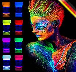 neon nights 8 x Peinture Corporelle UV Maquillage Fluo