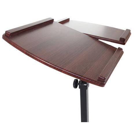 table d appoint ordinateur pupitre table d appoint pour ordinateur portable sur roulettes noyer bur04071 d 233 coshop26