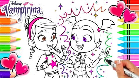 vampirina   friend poppy coloring page vampirina