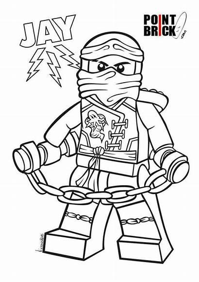 Ninjago Coloring Jay Lego Brick Clipart Library