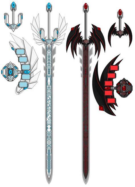 blueeyes  redeyes swords  mistress darkloki  deviantart