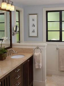 Small Bathroom Half Wall Height Idea Master Bathroom