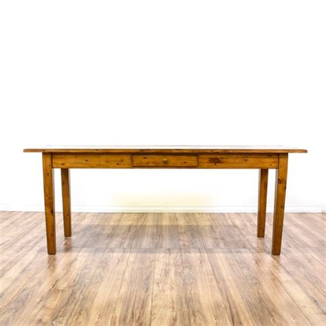 long rustic pine console sofa table loveseat vintage furniture san diego