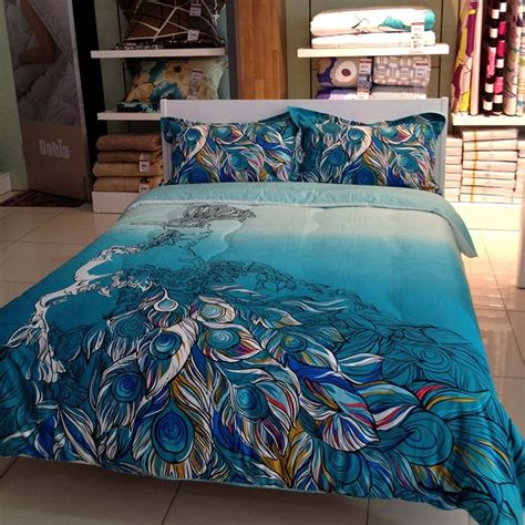 peacock themed peacock colored comforter  bedding sets