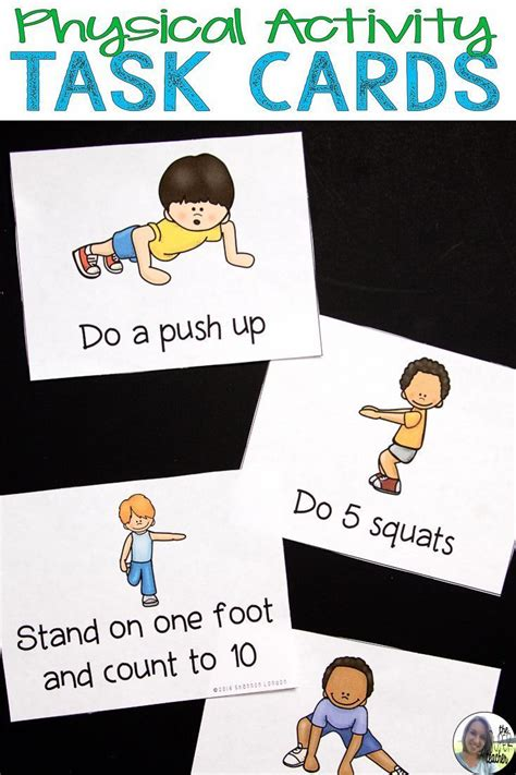 physical activity cards exercise cards physical