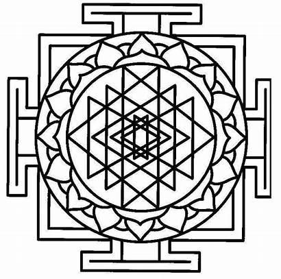 Mandala Indian Coloring Pages Printable Symbols American