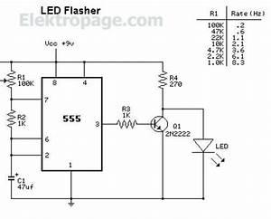 lm555 led flasher circuit lm555 led flasher circuit 555 With 555 flasher circuit