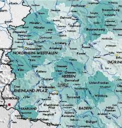 Detailed Map of West Germany