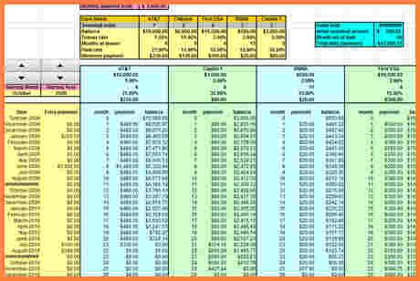 debt consolidation spreadsheet excel spreadsheets group