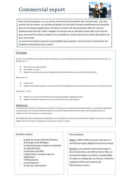 fiche de poste femme de chambre fiche métier commercial export pdf par laurine fichier pdf