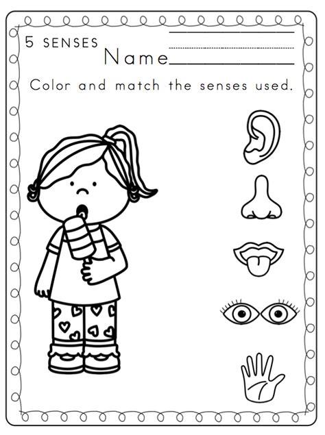 my five senses worksheets worksheets for all