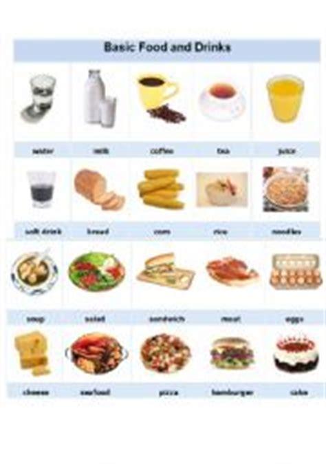 worksheet basic food and drinks
