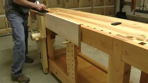 roubo workbench  action youtube