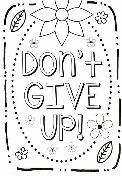 Coloring Mindset Pages Growth Quote Summer Sheets