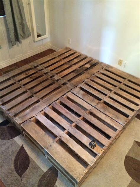 Bed Frame For Size Bed by King Size Pallet Bed Stuff I Built Diy Pallet Bed
