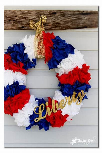 Wreath Patriotic Wreaths Bee Crafts Liberty July