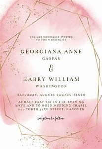 Congratulations Baby Shower Gold Polygon Wedding Invitation Template Free