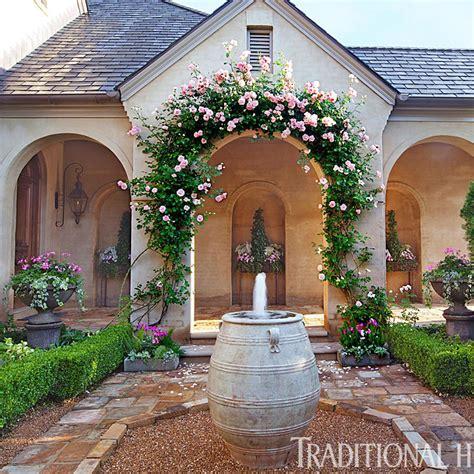 picturesque courtyard garden traditional home
