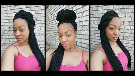 How To Style Senegalese Twists  5 Ways Youtube