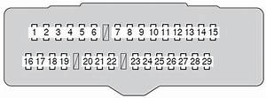 Toyota Avalon  2011 - 2012  - Fuse Box Diagram