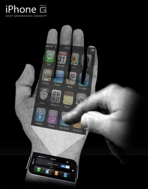wrist for iphone iphone concept wrist projector phone iphone concept