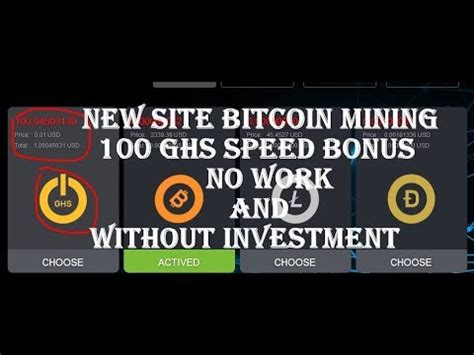bitcoin ghs new site bitcoin mining 100 ghs speed bonus no work and