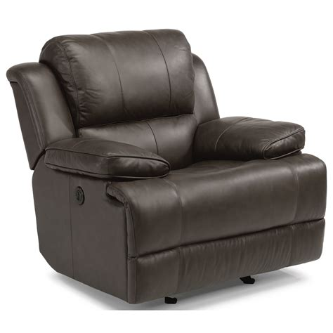 recliner with usb port flexsteel latitudes simon 1831 54p casual power gliding