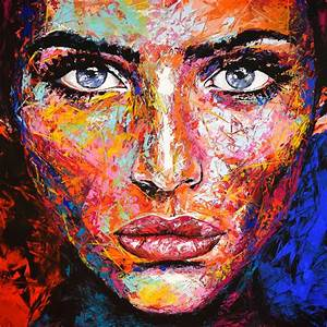 Saatchi Art: *G* Original 871 Face abstract Painting by ...