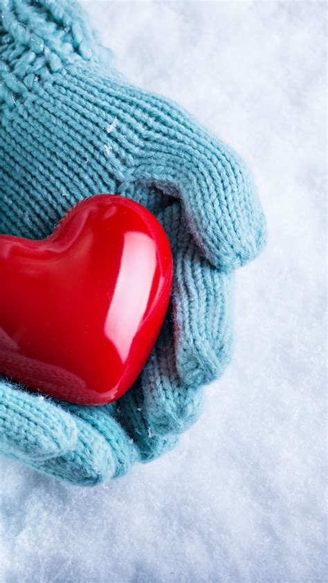 stock images love image hand snow heart  stock