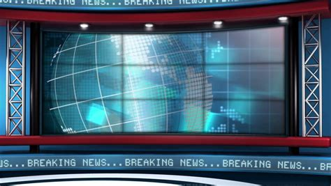 News Backdrop Stock Video Footage