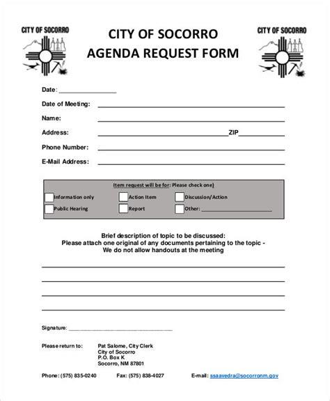 meeting agenda samples  ms word