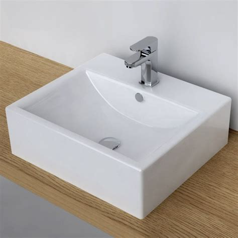 robinet vasque a poser vasque 224 poser rectangulaire 51x45 cm plage robinet c 233 ramique