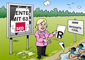 Rente Berechnen Mit 63 : rente mit 63 von erl politik cartoon toonpool ~ Themetempest.com Abrechnung