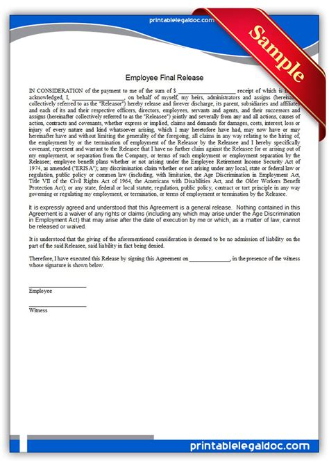 printable employment records employee permission