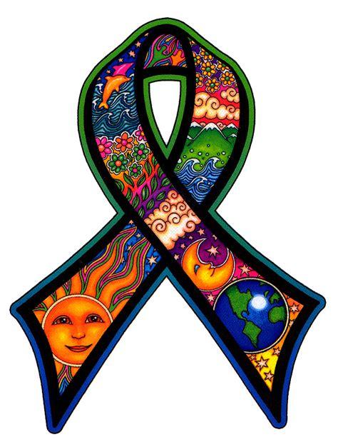 earth day ribbon window sticker peace resource project