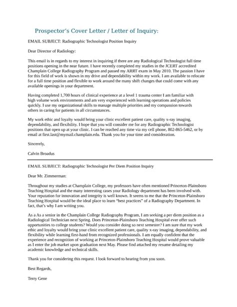 Nuclear Medicine Resume Cover Letter by Combination Resume Exle Nuclear Medicine Technologist