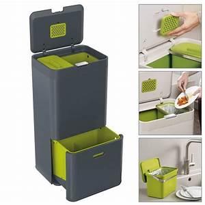 Poubelle De Tri Cuisine : poubelle tri s lectif totem 60l gris joseph joseph kookit ~ Dailycaller-alerts.com Idées de Décoration