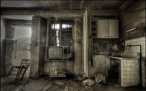 Wallpaper Kitchen Room Old Television 1920x1200