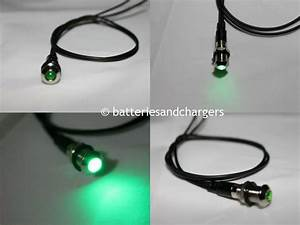 8mm 12v Green Led Metal Indicator Pilot Dash Light Lamp