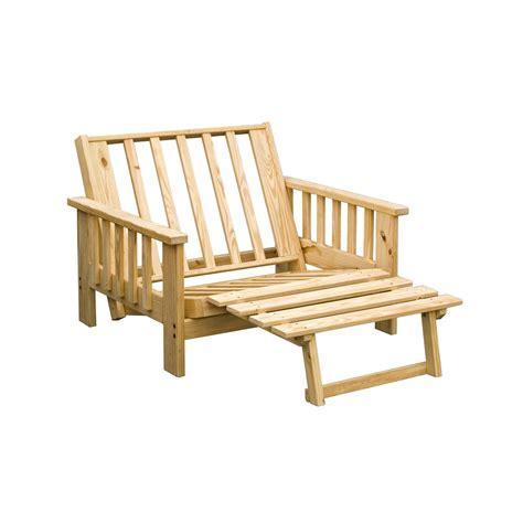 king bed wood frame pine grand teton lounger futon frame 113146 living