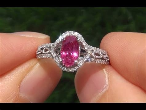 quot padparadscha quot color natural pink sapphire 14k white gold engagement ring a141721